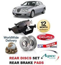 FOR JAGUAR S TYPE 2.7D V6 2006-2008 NEW REAR BRAKE DISC SET AND DISC PADS KIT