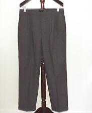 Dockers 38 x 32 Gray Pleated Cuffed Business Dress Pants