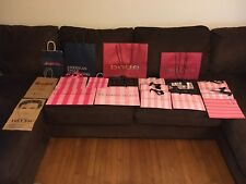 Lot of 18 Victoria's Secret & Other Brands Gift Paper Shopping Bags *Used*