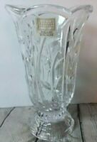 Fifth Avenue Vase Crystal Large Heavy Floral Etched Poland