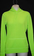 New POLO Ralph Lauren Women's 100% Cashmere Neon Green Hoodie Sweater S $398 NWT