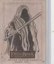 """Lord of the Rings Masterpieces II - Steven Miller """"Ringwraith"""" Sketch Card"""