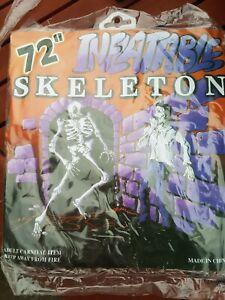 Vintage 1990s Halloween Decoration Inflatable Skeleton MIP old shop stock