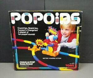 Vintage 1985 TOMY Popoids Chug A Pop Railroad Complete CIB #5210 + 17 Extra RARE