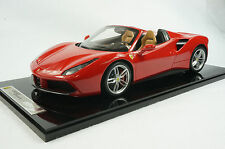 1/12 BBR FERRARI 488 SPIDER IN COLOR ROSSO CORSA LIMITED 5 PIECES N MR #01/05