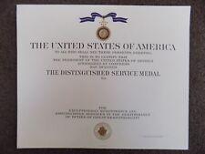 GENUINE US NAVY DSM DISTINGUISHED SERVICE MEDAL CERTIFICATE -  LARGE WW2 /KOREA