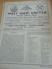 West Ham v Leyton Orient  16/2/57