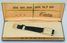 14K GOLD BENRUS CITATION Men's Vintage Watch Model DM21 17-Jewel w/ORIG BOX