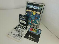 SCHTROUMPFS CBS  SMURF Gargamel's Castle for CIB Complete Colecovision J14