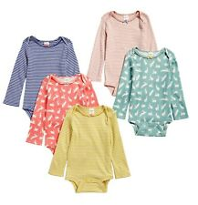 £35 New 5-Pack Girls Baby Boden Pretty Bunnies Stripes Bodysuits