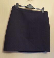 Monsoon UK14 EU42 US10 blue lined skirt with small white pattern