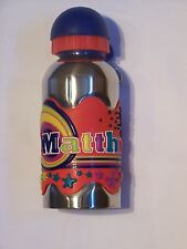 MATTHEW Funky Named Metal Silicone Drinks Bottle Flask Container Thermos RED