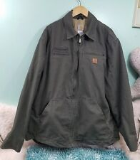 Carhartt J169 Hamilton  Lightweight Work Military Green Zip Jacket-NICE!