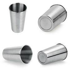 500ML Stainless Steel Cups 16oz Tumbler Pint Glasses 18/8 Metal Cold Cup BPA New