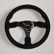 Racing 345mm /13.6inch Car Sport Racing Suede Alloy Steering Wheel