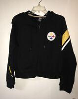 NFL Pittsburgh Steelers Women's Hooded Zip Up Sweatshirt Size Large