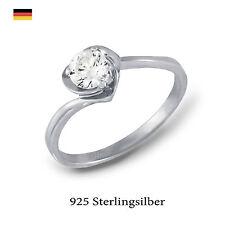 Ringe mit Edelsteinen im Solitär Stil für die Verlobung echten runde