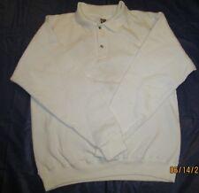 Sweatshirt Fruit of loom Casual Collar & 2 Button Medium White  90 % Cotton