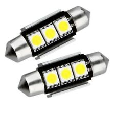 2X 36MM LED FESTOON CANBUS ERROR FREE WHITE NUMBER PLATE BULBS 239 35MM 37MM C5W