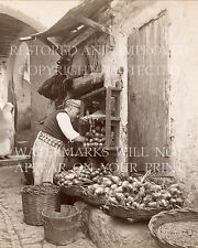 Old World vegetable vendor food cooking produce culinary gourmet photo cafe art
