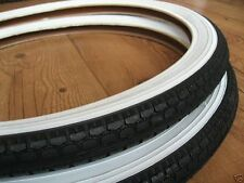 "Pr of 20"" White Wall Tyres for Old Skool BMX 20 x 1.75"