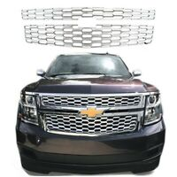 For 2015-2020 Chevy Tahoe Suburban CHROME Grille Overlay Grill Cover LS / LT