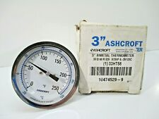 """Ashcroft 3"""" Dial Thermometer 33Ht58 New 0/250F Manufacturing Industrial"""