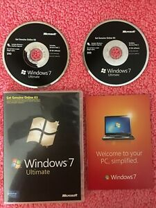 MICROSOFT WINDOWS 7 ULTIMATE 32/64 BIT DVD No Key DISC ONLY Excellent Condition