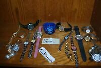 Lot of (17) Vintage mostly Quartz Wrist watches – see pics – untested U728