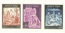 ANDORRE FRANCE YVERT N° 184 à 86 ** RELIGION CATHOLIQUE