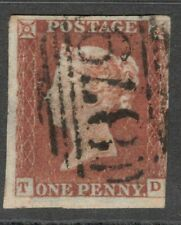 Queen Victoria -  1d Red Imperf -  Letters T D - 3+ Margins