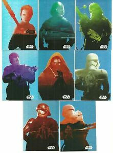 2015 Topps Star Wars Journey to the Force Awakens Character Silhouette Foil Set