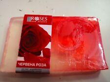 """HANDGEFERTIGTE GLYCERINSEIFE """"  Red Rose """"  duftend nach Rosen 75g"""