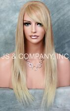 100% HUMAN HAIR Long NEW STRAIGHT Strawberry Blonde Mix WIG IHHI 613-27