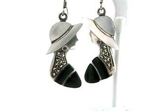 Wunderschöne Ohrringe aus  925 Silber - Markasit - Silberohrringe