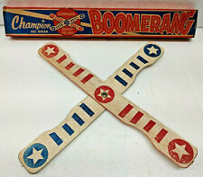 "12"" BOOMERANG Vintage Complete Ready to Use All Balsa Wood Kit Champion Model Co"
