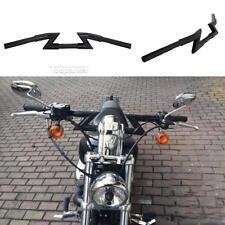 """Black Drag Handlebar 1"""" Z Bar For Harley Chopper Bobber Softail Dyna Sportster"""