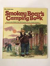 SMOKEY BEAR'S CAMPING BOOK Irwin Shapiro 1976 Golden Press EXC Vintage Childrens