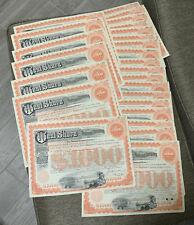 West Shore Railroad Company Bond (1950's-60's) $1,000- SET OF 40