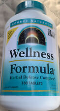 Source Naturals Wellness Formula 180 Tablets Herbal Defense Complex Exp 4/23 BB