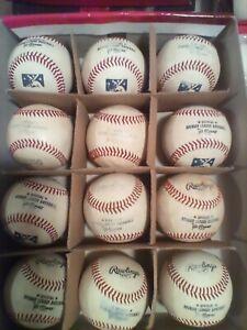 12 one game used MLB Minor league baseballs