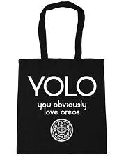 YOLO You Obviously Love Oreos Tote Shopping Gym Beach Bag 42cm x38cm, 10 litres
