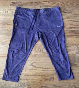 Nike Dri-fit Athletic Tennis Running Cropped Leggings Pants Women's Size 1X