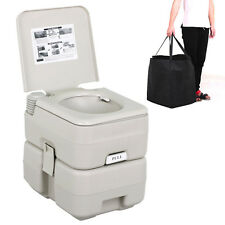 5 Gallon 20L Portable Travel Camping Toilet Flush  Hiking Pump WC W/ Bag