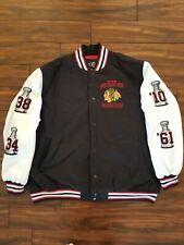 Chicago Blackhawks 4-Time Championship Jacket w/Satin Lining Size 3XL