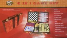 Fat Cat 6 in 1 Travel Game Set Includes Chess Backgammon Checkers Cards Dice