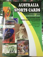 Australia Sports Cards Price Guide Catalogue (1990-2014) 1st Edition 200 pages