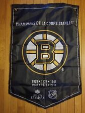 Molson Beer Stanley Cup Banner Flags Boston Bruins