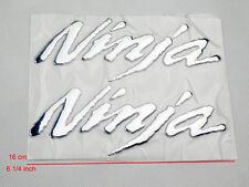 3D Chrome Emblem Sticker Decal For Ninja Kawasaki ZX-6R ZX 10R ZX-14R 250 Motors