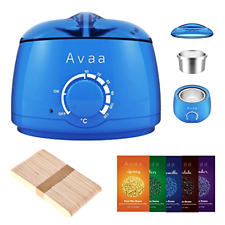 AVAA Professional Wax Warmer Set Hair Removal Depilatory Waxing Kit w/ Hard Wax